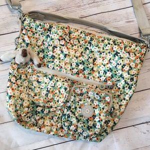 KIPLING Floral Print Convertible Crossbody Bag